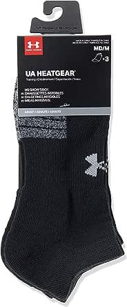 Under Armour UA Heatgear NS, trainer socks; compression socks Unisex, Black (Black/Black/Steel (001)), XL
