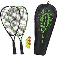 Schildkröt Speed-Badminton Set, 2 handliche Aluminium-Rackets, Länge 54,5cm, 3 windstabile Bälle, perfekt geeignet für…