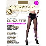 GOLDEN LADY Mysecret Silhouette 30 Collant, 30 DEN, Trasparente (Melon 001A), Small (Taglia Produttore:2 – S) Donna
