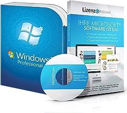 Original Microsoft® Windows 7 Professional (PRO) Lizenzschlüssel + Lizenza ISO CD / DVD für 32 und 64 bit Deutsch inklusive Workstation 2016 für Office