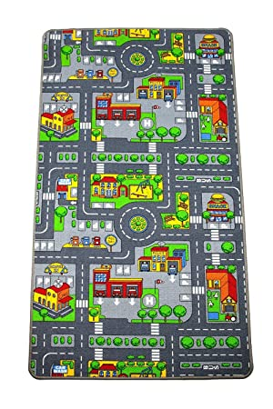 Kids Road Map Playmat Rug Amazoncouk Kitchen Home - Kids road map