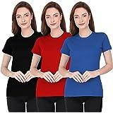 THE BLAZZE 1019 Women's Regular T-Shirts for Women Combo