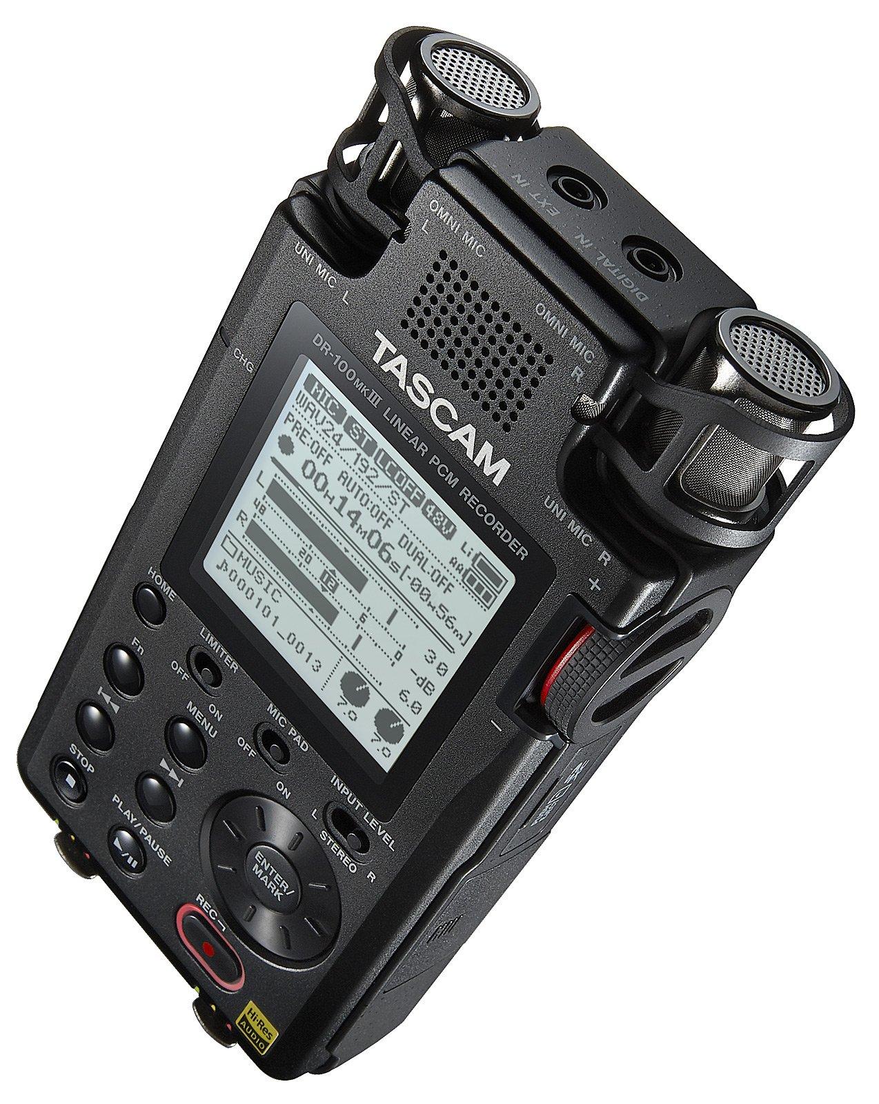 Tascam DR-100MKIII – Enregistreur portable pour utilisation professionnelle