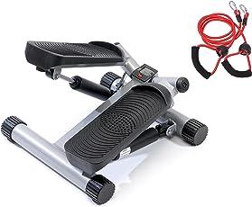 SportPlus Side-Stepper mit Zugbändern und Trainingscomputer Benutzergewicht bis 100kg hochwertige Hydraulikzylinder Sicherheit geprüft SP-MSP-001