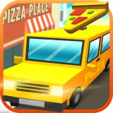 Simulatore di Blocky Pizza Sandwich Delivery Driver: Delivery Tycoon Food Transporter in Van Simulation 3D Game