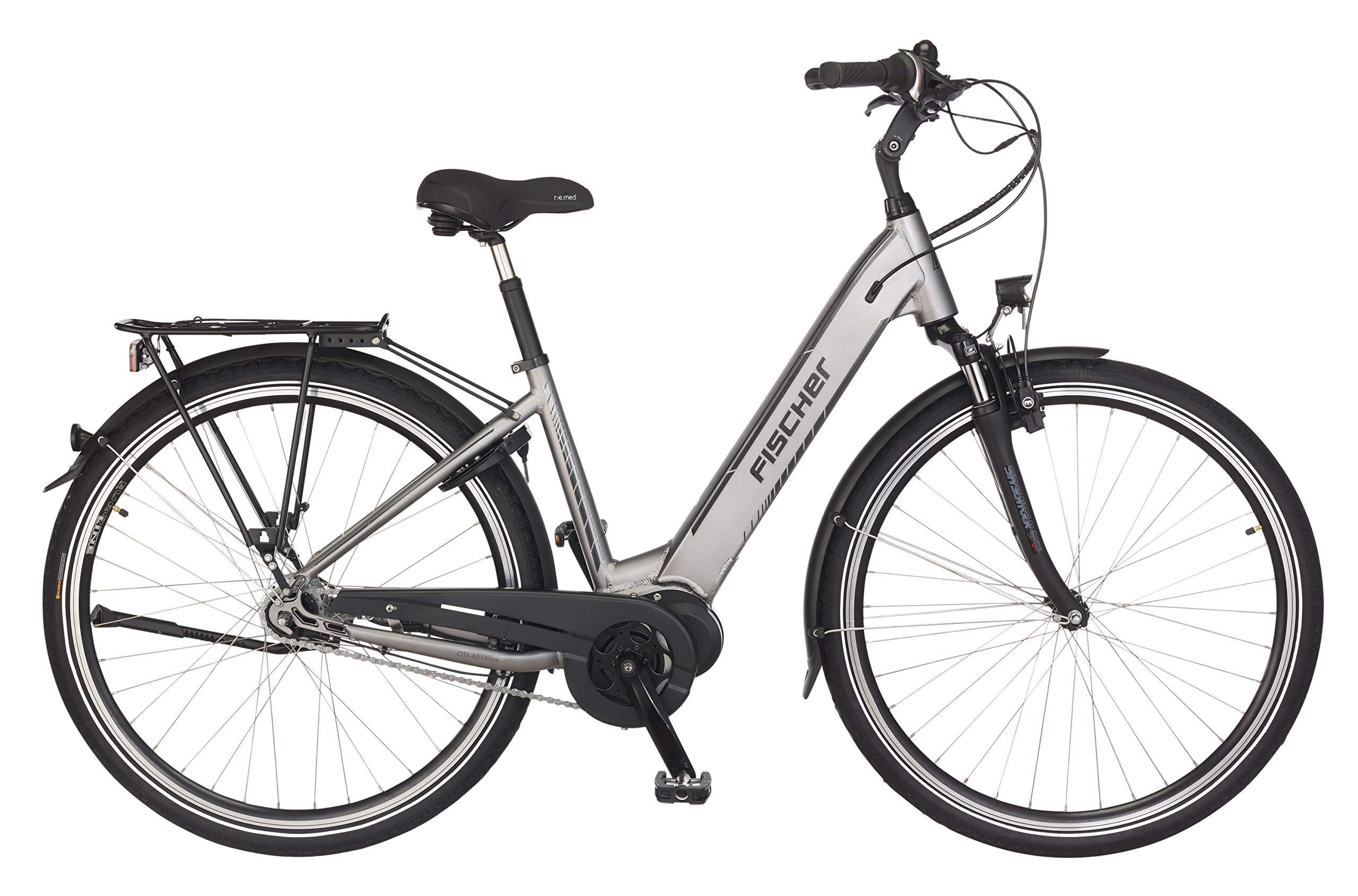 Fischer CITA 4.0i (2019), 28 Zoll Damen Trekking E-Bike, RH 41/44 cm, Mittelmotor, quarzgrau