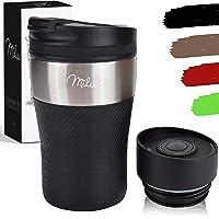 Milu Thermobecher Isolierbecher Kaffeebecher to go - 210ml 100% Auslaufsicher - Trinkbecher aus Edelstahl - Autobecher…