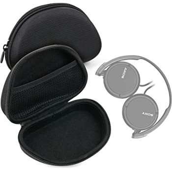 e7b1e3c221d0 Etui de protection rigide avec coque moulée pour casque audio Sony MDR-V55  et Coredy BASE-2 Bluetooth - forme de demi-lune - DURAGADGET