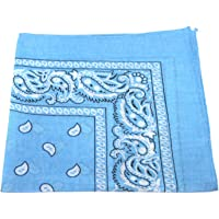 Men's/Women's Bandana Head or Neck Scarves Paisley Pattern 100% Cotton