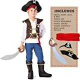Spooktacular Creations Kinder Piraten Kostüm, Deluxe Jungen Piratenkostüm Set (3-10 Jahre) (Small)
