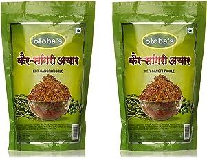 Otoba's Ker Sangri Pickle, 800 Gr (Pack of 2, 400 Gr Each Pack)