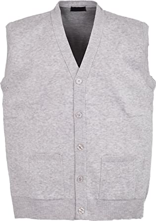 Mens Knitted Waistcoat Plus Sizes 3XL to 6XL Kniited Sleeveless ...