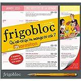 Frigobloc 2020 Qu'est ce qu'on mange ce soir ? Calendrier d'orga. familiale  (janv- déc. 2020): Chaque jour, un espace d'organisation, une recette pour le dîner et la liste de courses associée !
