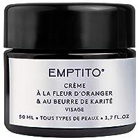 Emptito Crème Hydratante Visage 91% BIO - soin Visage pour Femme a la fleur d'oranger et au beurre de karité - creme…