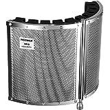 Neewer® Vikbar mikrofon akustisk isoleringssköld med lätt metalllegering, akustiska skum, fästkonsol och skruvar för mikrofon