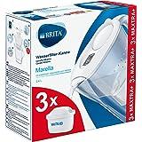 BRITAMarellablanca Pack Ahorro – Jarra de Agua Filtrada con3 cartuchos MAXTRA+, Filtro de agua BRITA que reduce la cal y e