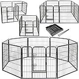 Lovpet Welpenlaufstall Freilaufgehege Welpenauslauf Hundelaufstall Tierlaufstall Hunde, mit Tür und wetterfester laufstall Für Hund, Katze, Welpe, Kaninchen, Meerschweinchen