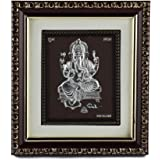 Hem Jewels 999 Pure Silver Ganesh Frame for Home Decor (5 x 6 Inches   silver)