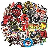 makstore 55 stuks Band Rock Punk stickers voor laptop, auto, motorfiets, fiets, graffiti-patches skateboard, muziekstickers,