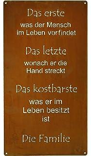 Edelrost Spruchtafel //Gedichttafel ZUHAUSE 116cm x 48cm