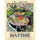 WallBuddy Matisse affisch Matisse utställningsaffisch Matisse 1958 guldfiskmålning (16,5 x 23,4 (A2))