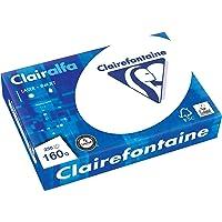 Clairefontaine 2618C Papier d'imprimante Clairalfa opaque (250 feuilles, A4, 21 x 29,7 cm, 160 g, idéal pour les…