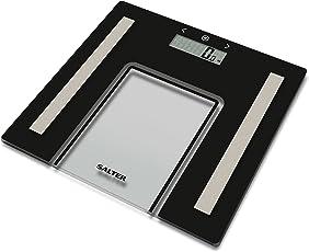 Salter 9128 BK3R Glas Körperanalyse-Personenwaage - Messen Sie Gewicht + Körperfett