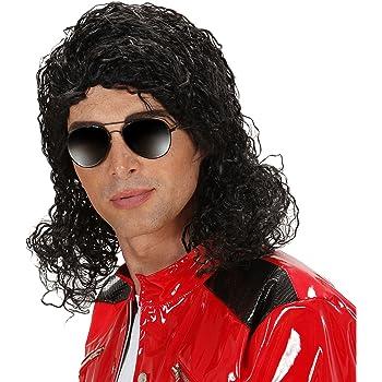 Parrucca Michael Jackson effetto gel  Amazon.it  Giochi e giocattoli b987fa4bfac7