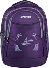 INDIAN STYLISH Polyester 28Ltrs Purple with Laptop Casual Backpack & School Bag for Boy's and Girl's