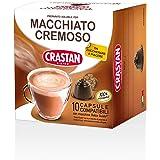 Crastan Capsule Compatibili Dolce Gusto - Caffe macchiato cremoso - 10 confezioni da 10 capsule [100 capsule]