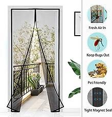 Homitt Magnetischer Türvorhang mit Glasfaser Meterial Insektenschutz für Balkontür, Klebemontage Ohne Bohren, Fliegengitter Magnetvorhang für Türen 120 x 240cm