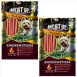 Meat Up Chicken Flavour Sticks, Dog Treats, 100 g (Buy 1 Get 1 Free)