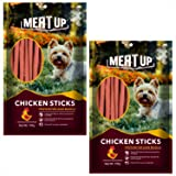 Meat Up Chicken Flavour Sticks, Dog Treats, 100 g (Buy 1 Get 1 Free)