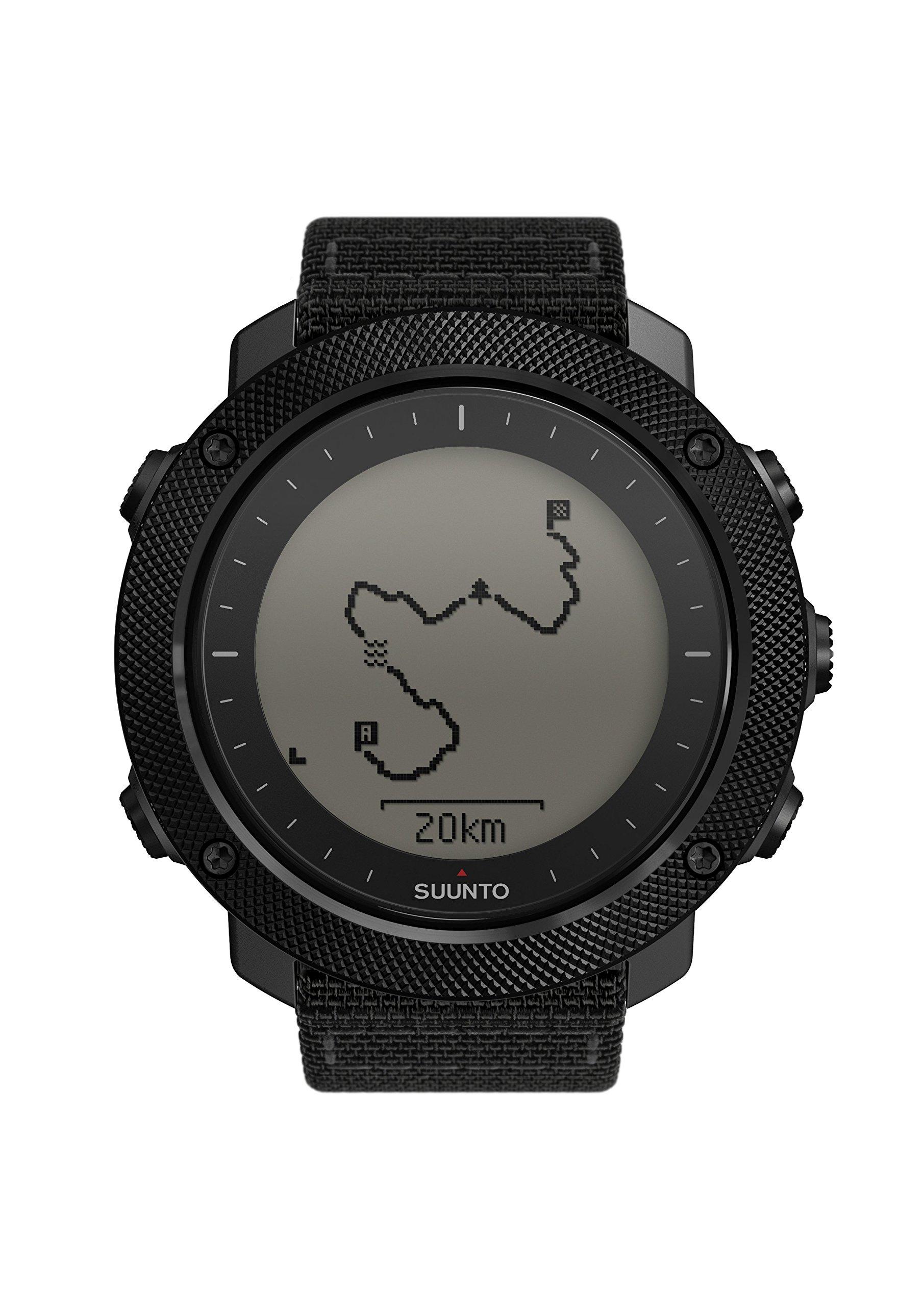Suunto – Traverse Alpha – Reloj GPS Outdoor para pesca, caza y excursionismo – Sumergible – Negro Stealth – Talla única