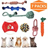 WALLE Dog Rope Toys Puppy Chew Toys Dog Interactive Toy Durable Cotton Rubber Gift Set Dog Teething Training for Small…