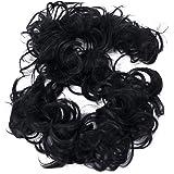 PRETTYSHOP XXL haarstukje haarband updos bruidskapsels rubberen ring volumineus rommelig dutt HW6