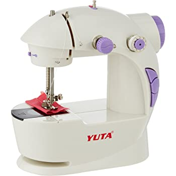 Ruby 4 In 1 compact Mini Sewing Machine with foot pedal bobbin and adapter