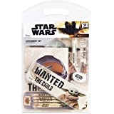Star Wars Estuche Escolar con Baby Yoda, Kit Material Escolar El Mandaloriano, Lapices Colores, Bloc de Notas, Bolígrafo Orig