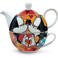 Egan théière avec tasse Mickey et Minnie Rouge Taille Unique