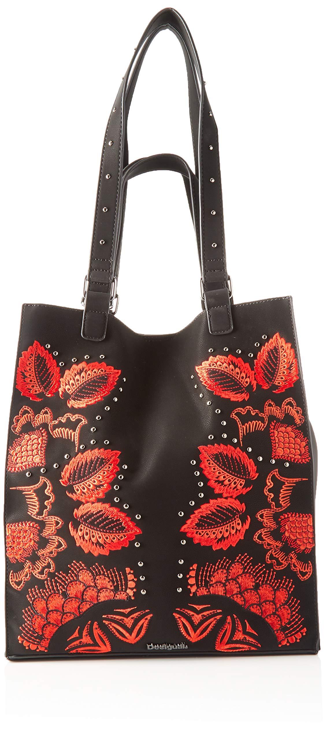 Desigual – Bag Gemini Colorado, Shoppers y bolsos de hombro Mujer, Negro, 36x16x31 cm (B x H T)