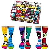 Stress Heads Boîte de 6 chaussettes pour homme Multicolore 39-46
