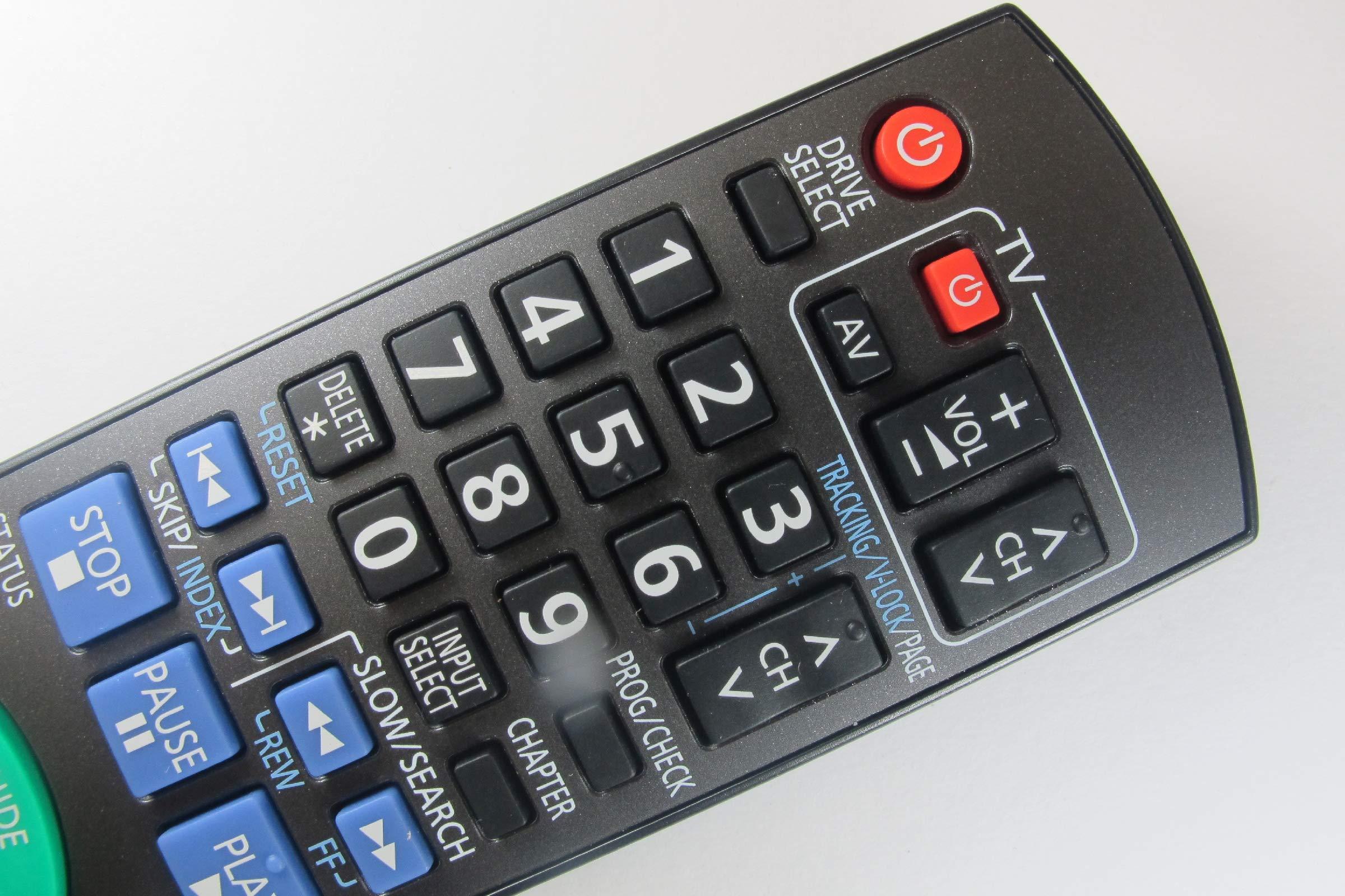 81jwx2e6i3L - Panasonic DMR-EZ49VEBK Genuine DVD Recorder Remote Control N2QAYB000466