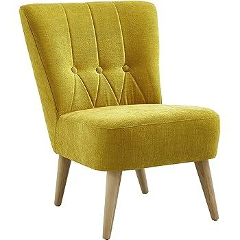 Atlantic Home Collection Sessel, Stoff, Gelb, 78 X 65 X 88 Cm