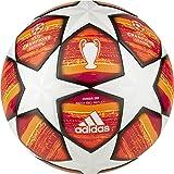 Adidas Heren Finale J290 Ball, Top: White/Active Scarlet Red Bottom: Bright Orange/Solar Gold/Zwart, 5