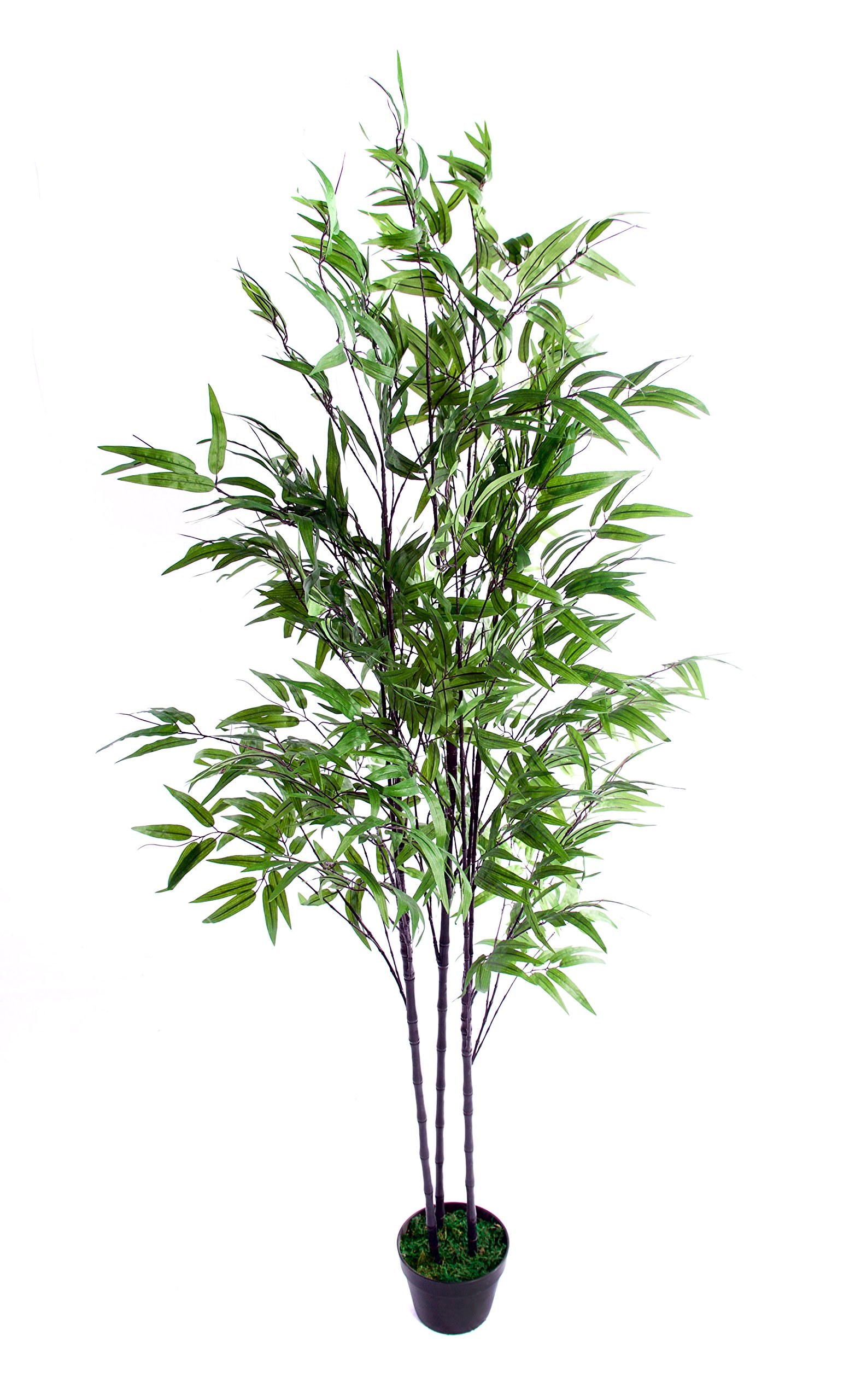Best Artificial – Árbol de bambú Artificial (180 cm), Color Negro