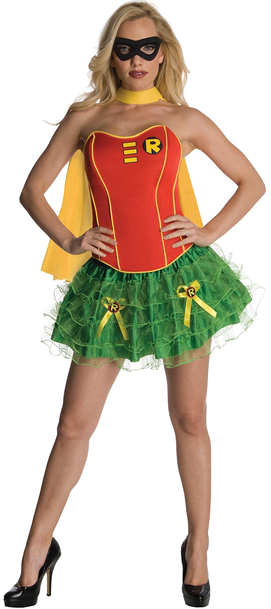 Rubies s–Disfraz de Robin Batgirl corsé, adultos oficial–grande