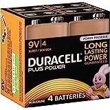 Duracell Plus Power Alkaline 9 V Batterien, 4er Pack