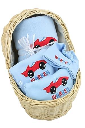 Personalised baby boy gift basket hamper newborn christening baby personalised baby boy gift basket hamper newborn christening baby shower gift amazon baby negle Choice Image