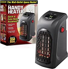 24x7 eMall pvc 400W Portable Plug-In Digital Electric Handy Heater (Black, wall heater)