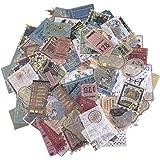 200 Pcs Autocollants Thème du timbre Stickers Vintage Autocollants Voyage D'étanchéité Stickers Scrapbooking Décoration Fourn